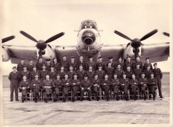 Maritime Long Range Course, R.A.F. St. Mawgan, February, 1956 - Lancasters (seated fifth from left).