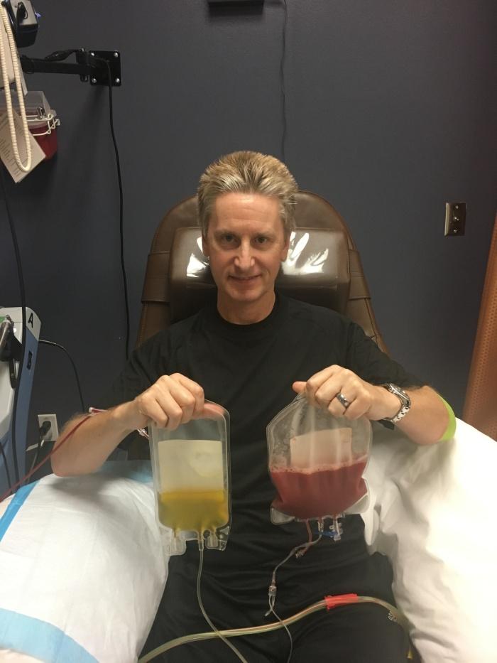 Stem cells donation, Houston, January, 2018.