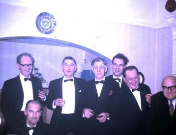 ?, ?, Dad, Gerald, Allan, Larry, George, New year 1966-67. (4.11)