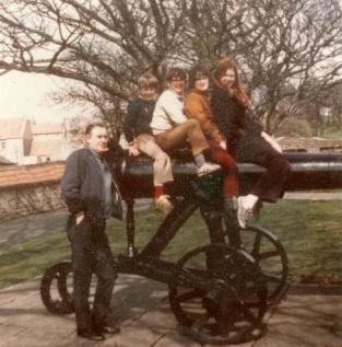 Dad, me, Neil, Rich, Shane, Berwick, Spring, 1973?
