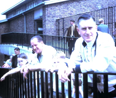 Rich, Larry, me, Dad, London Zoo, August, 1968. (8.18)
