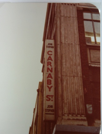 Carnaby Street, London, November, 1980.