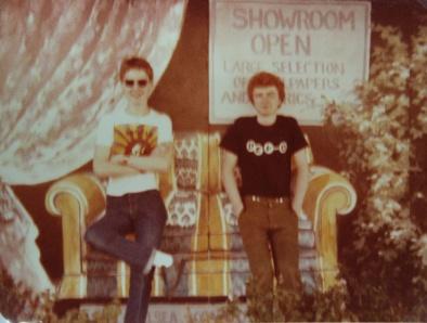 Me and Nige Walton 'sitting', King's Road, London, July, 1981.