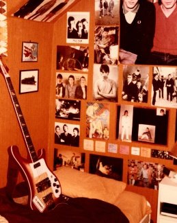 My bedroom wall, Ettrick Grove, Sunderland, c1981.