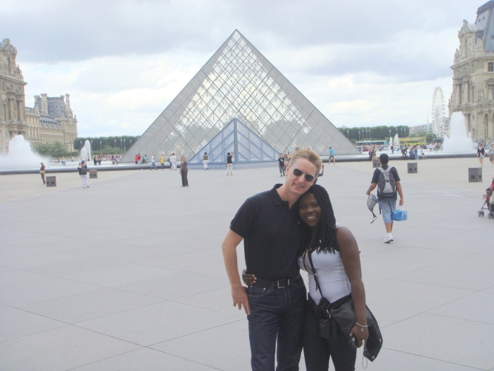 With Barb at The Louvre, Paris, July, 2010.